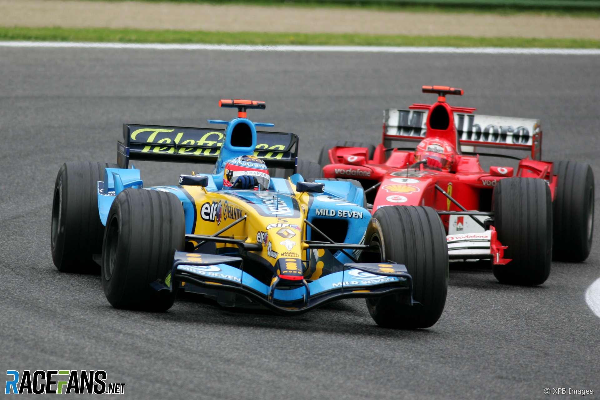 Fernando Alonso, Michael Schumacher, Imola, 2005
