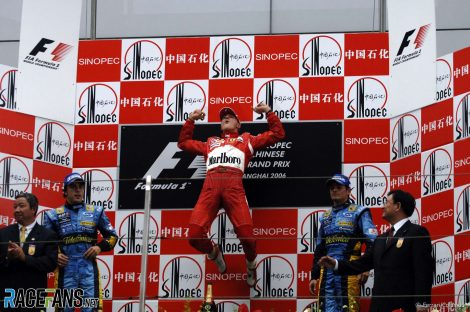 Michael Schumacher, Rubens Barrichello, Ferrari, Shanghai, 2006