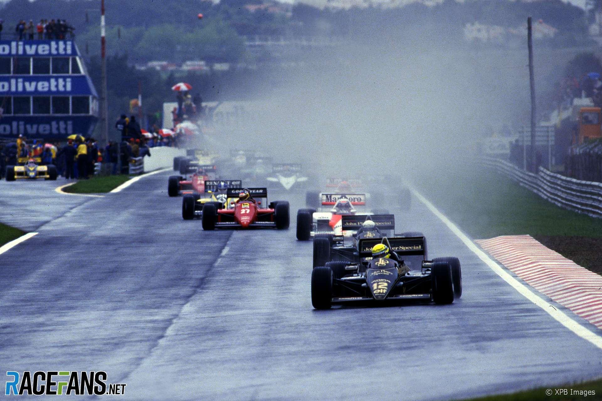 Start, 1985 Portuguese Grand Prix, Estoril