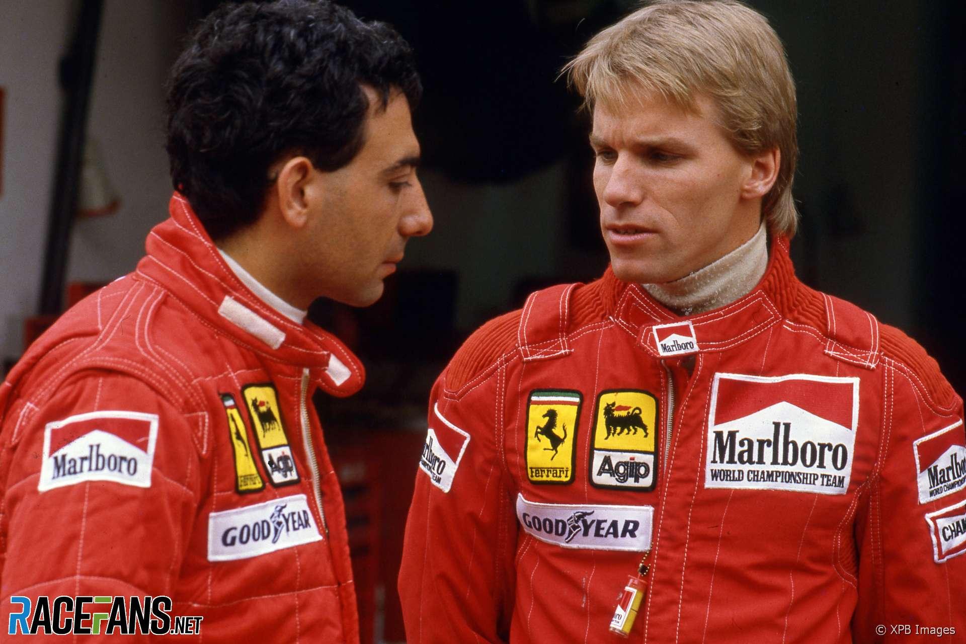 Michele Alboreto, Stefan Johansson, Ferrari, Estoril, 1985