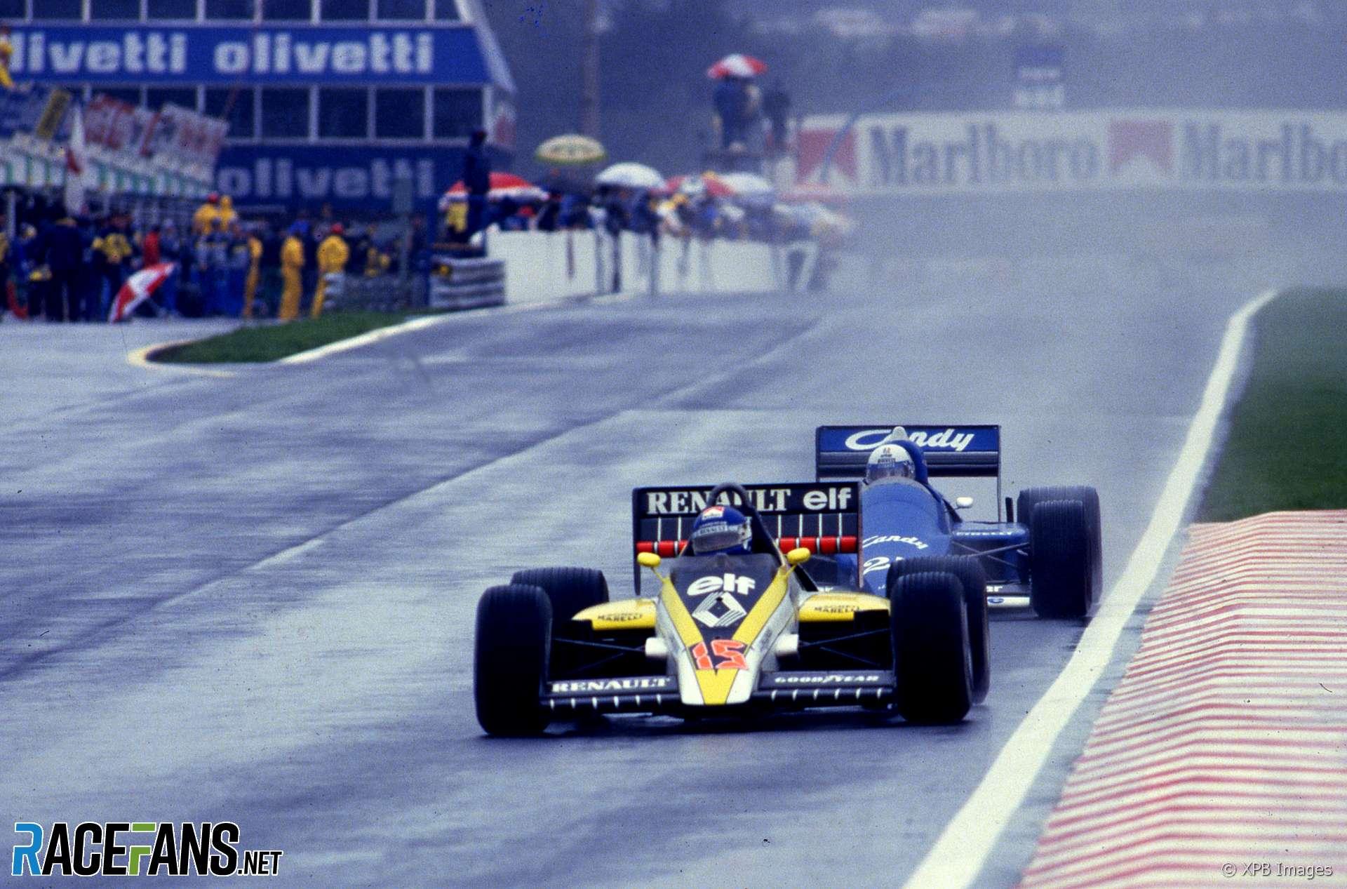 Patrick Tambay, Renault. Estoril, 1985