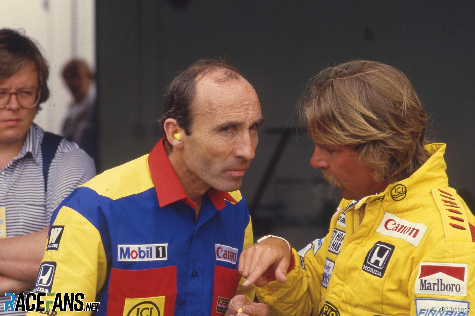 Keke Rosberg, Frank Williams, Estoril, 1985