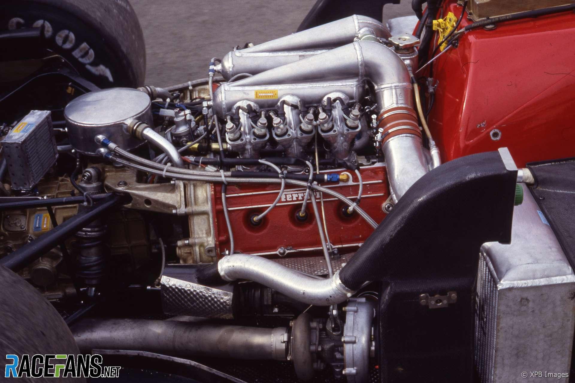 Ferrari 156/85 turbo engine, Estoril, 1985