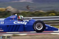 Andrea de Cesaris, Ligier, Estoril, 1985