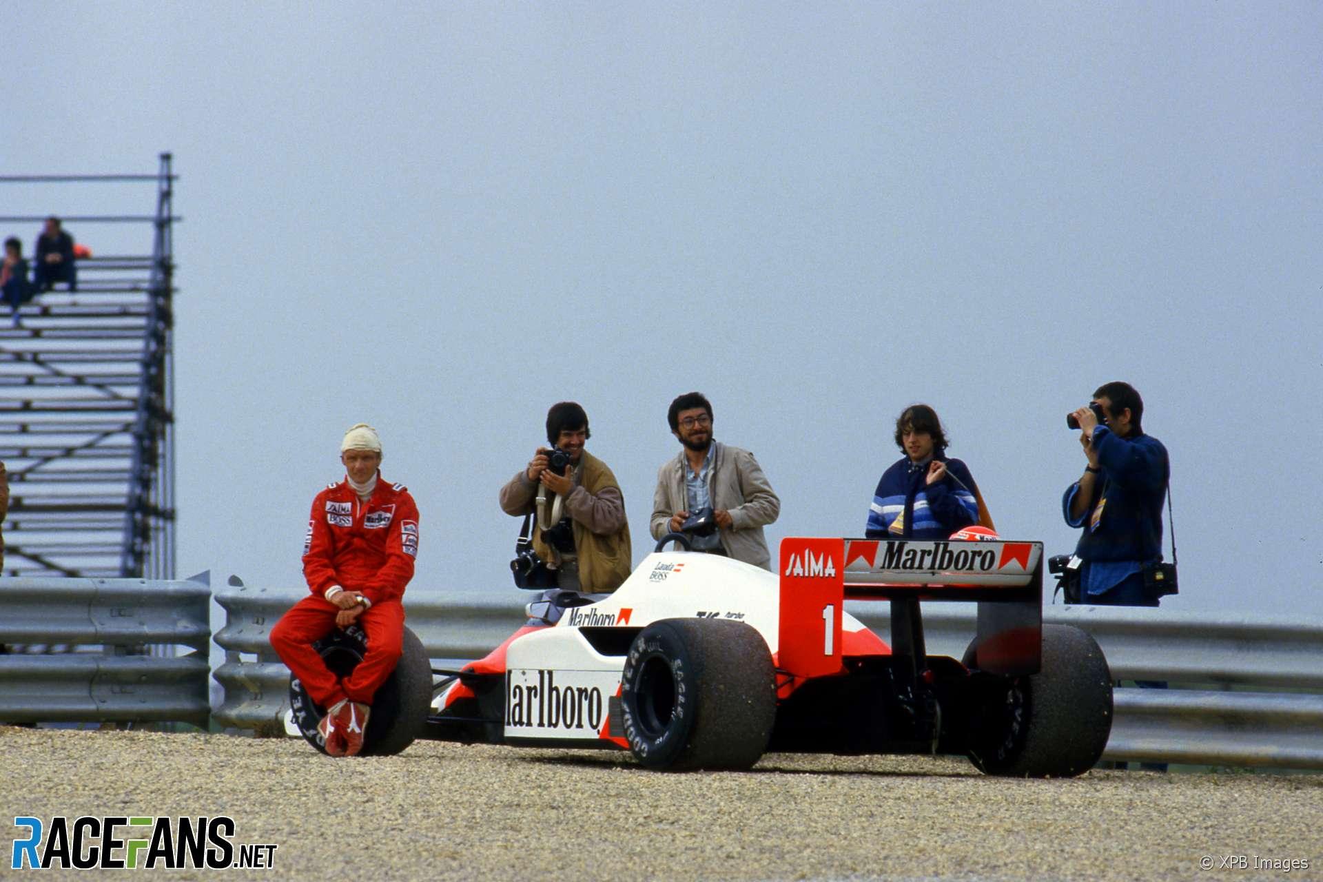 Niki Lauda, McLaren, Estoril, 1985