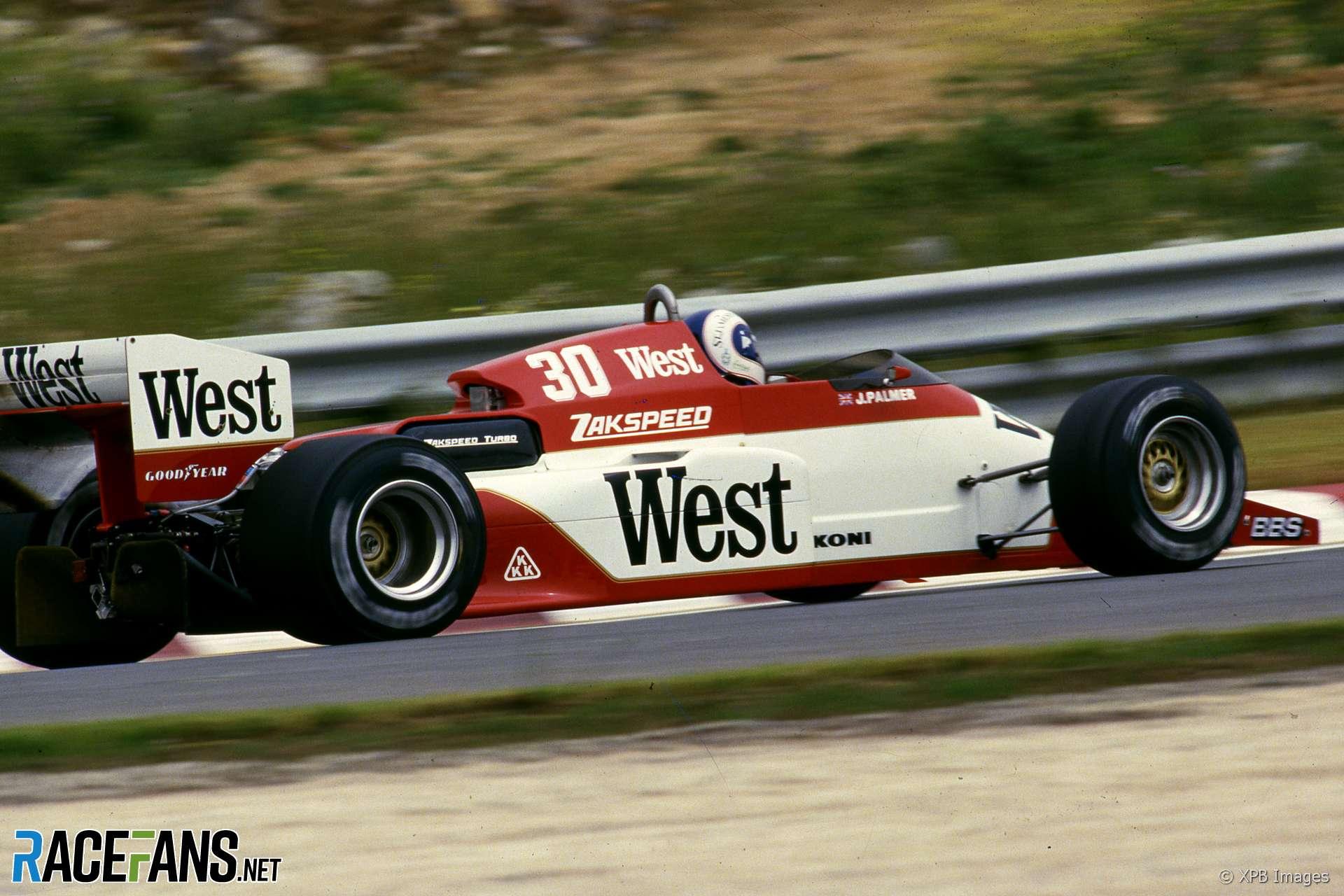 Jonathan Palmer, Zakspeed, Estoril, 1985