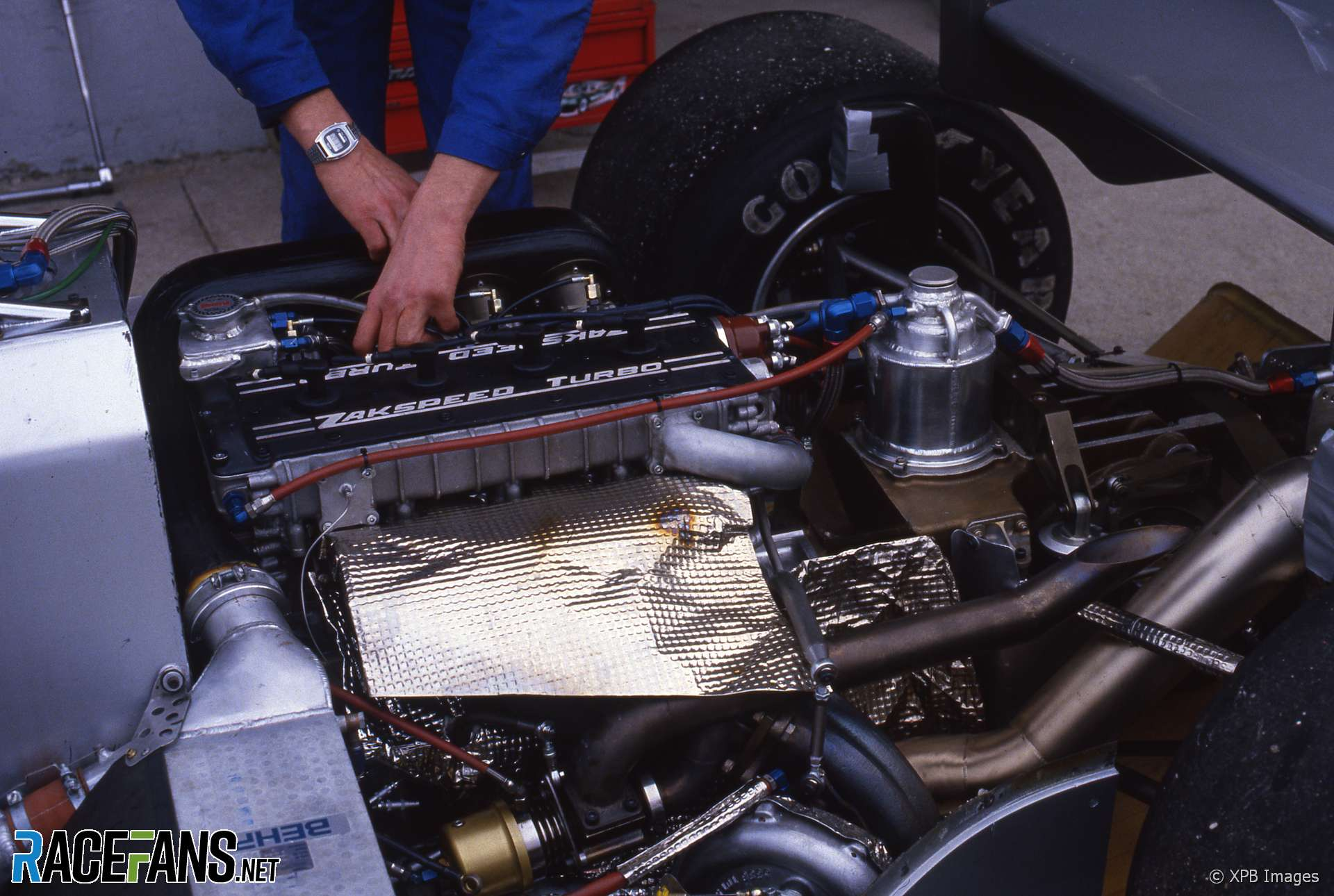 Zakspeed 841 turbo engine, Estoril, 1985