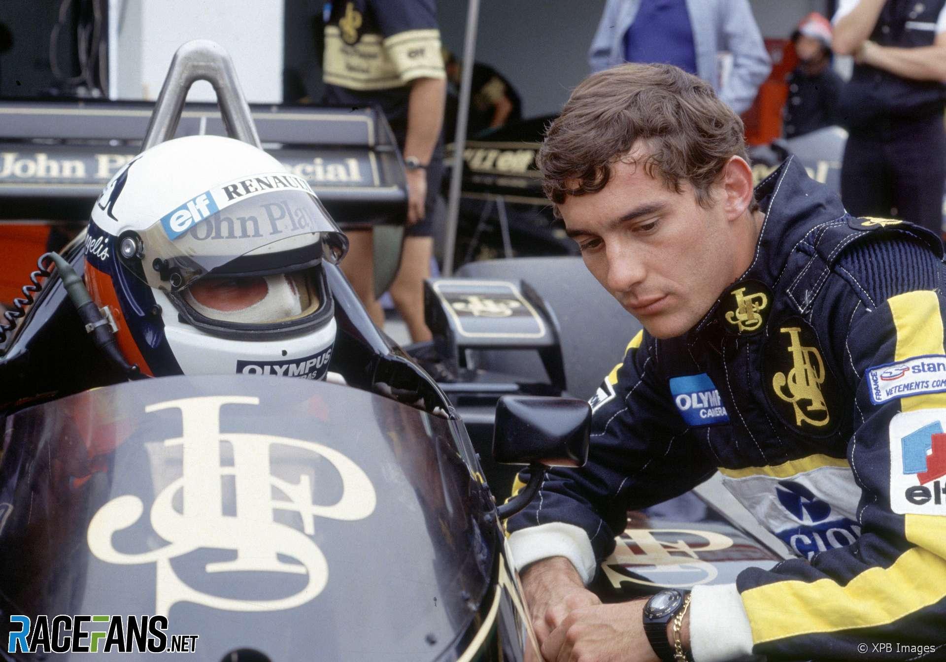 Elio de Angelis, Ayrton Senna, Lotus, Estoril, 1985