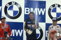 Michele Alboreto, Ayrton Senna, Patrick Tambay, Estoril, 1985