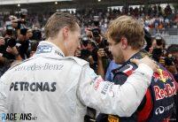 Michael Schumacher, Sebastian Vettel, Interlagos, 2012