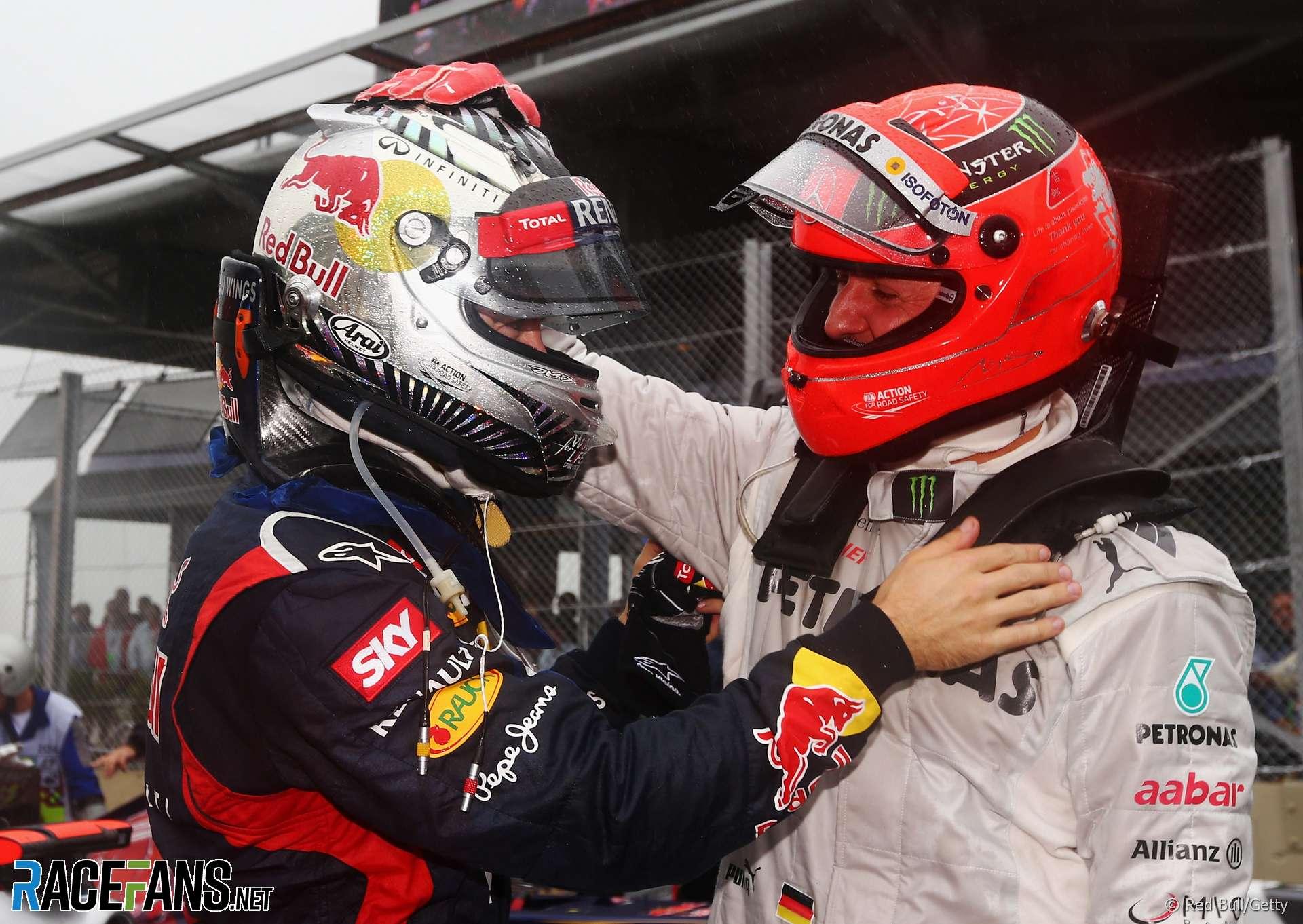 Sebastian Vettel, Michael Schumacher, Interlagos, 2019