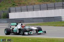 Schumacher drives the Nurburgring Nordschleife