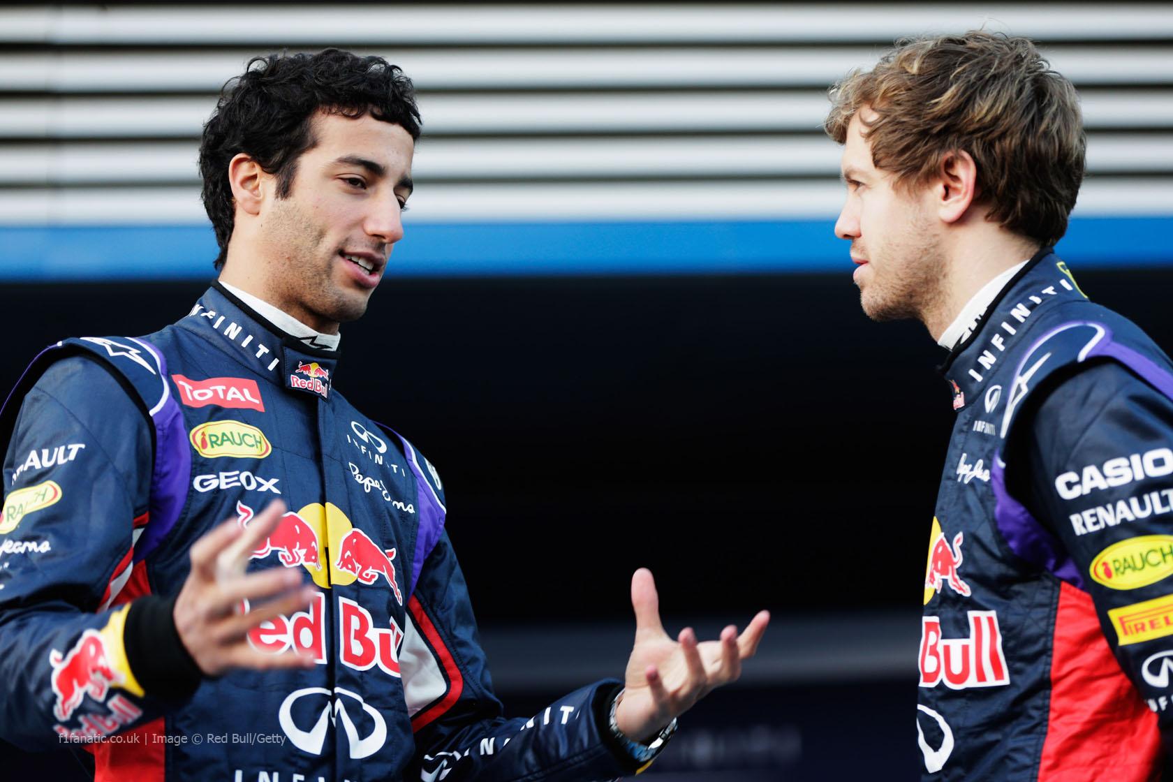 Daniel Ricciardo, Sebastian Vettel, Red Bull, Jerez, 2014