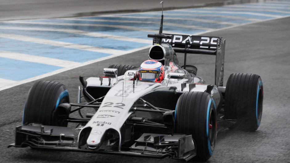 McLaren's MP4-29 hits the track at Jerez