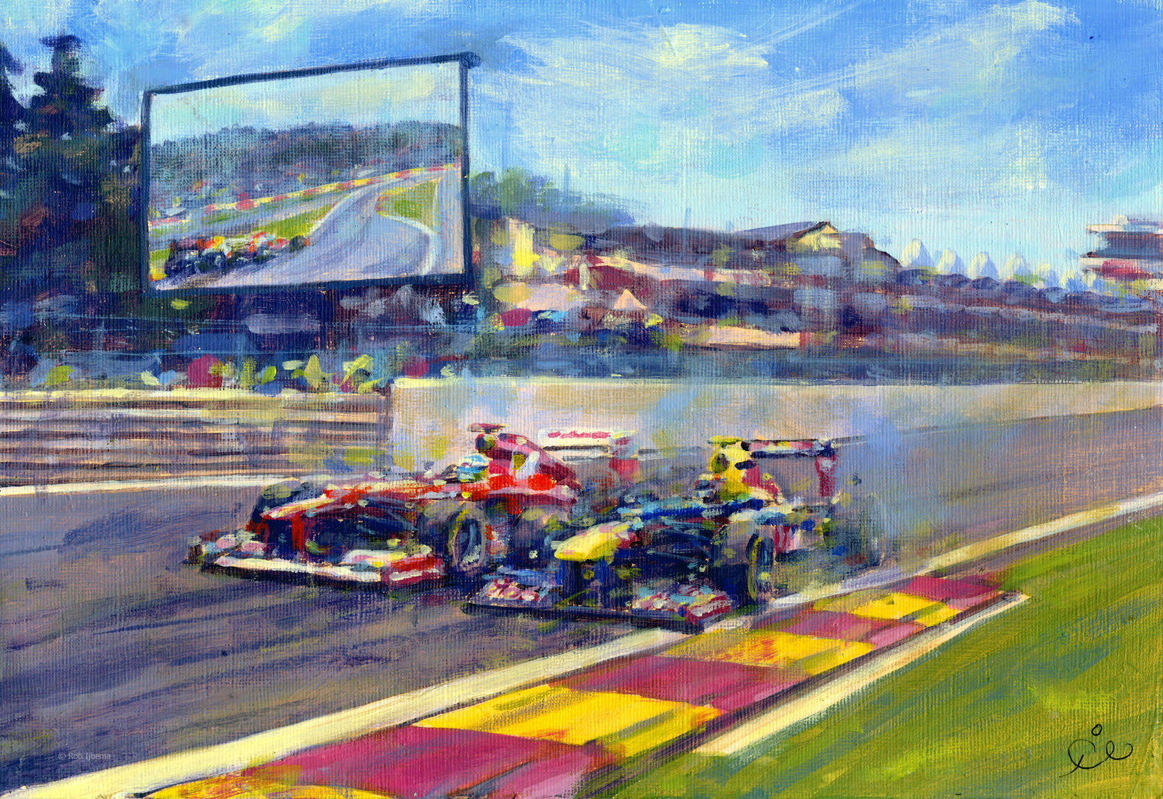 Alonso vs Webber by Rob Ijbema