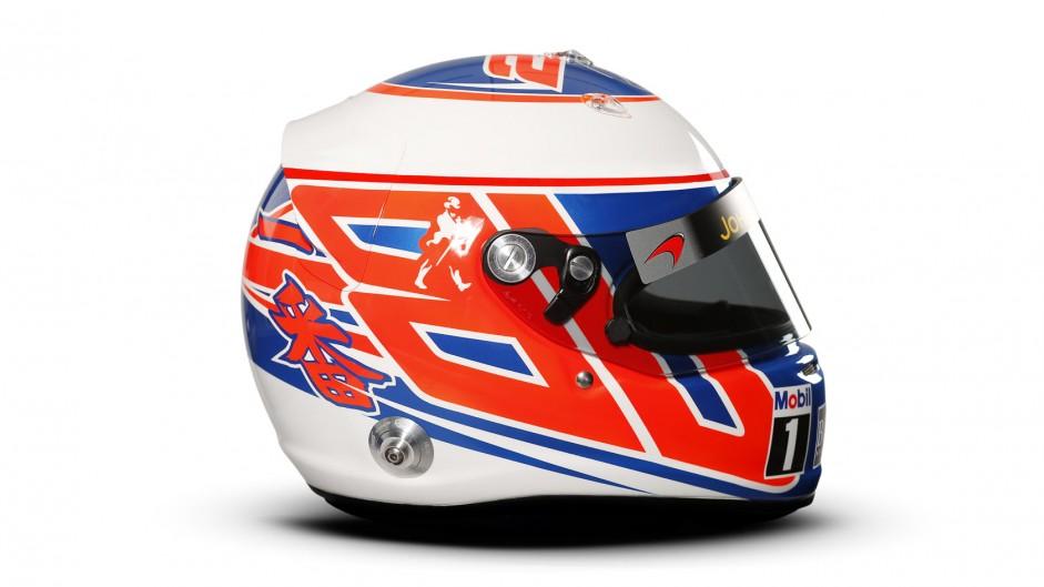 Jenson Button helmet, McLaren, 2014