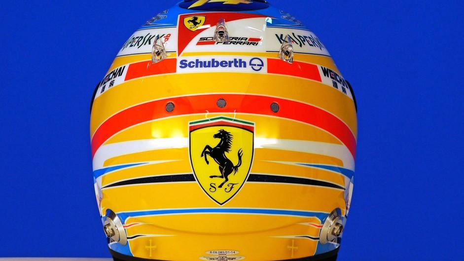 Fernando Alonso helmet, 2014