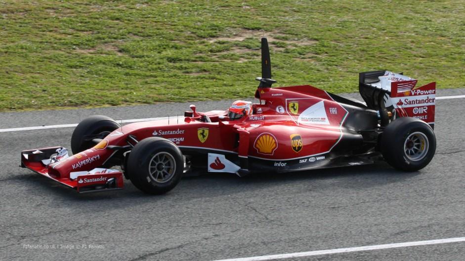 Kimi Raikkonen, Ferrari F14 T, Jerez, 2014