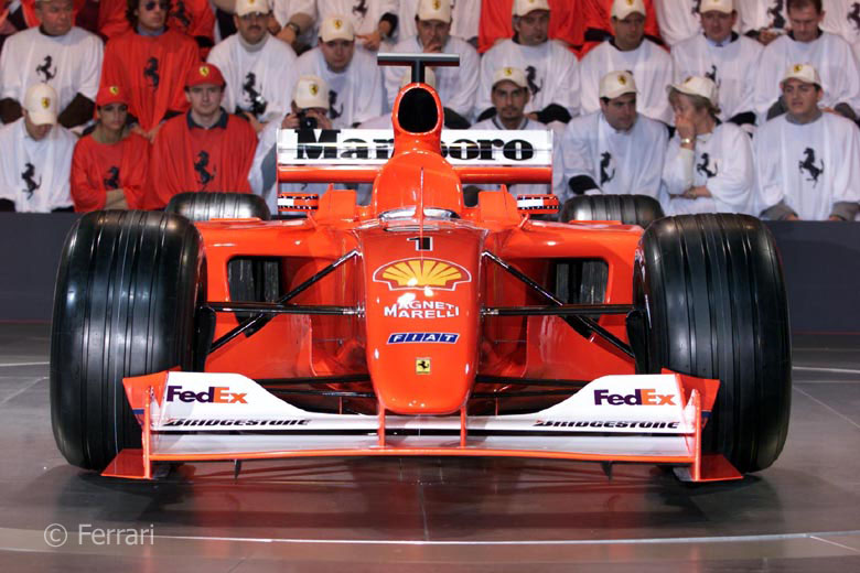 Ferrari F2001 launch, 2001
