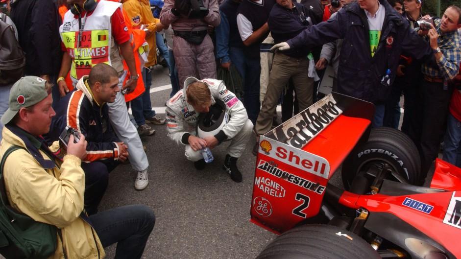 Mika Hakkinen, Ferrari F2001, Spa-Francorchamps, 2001