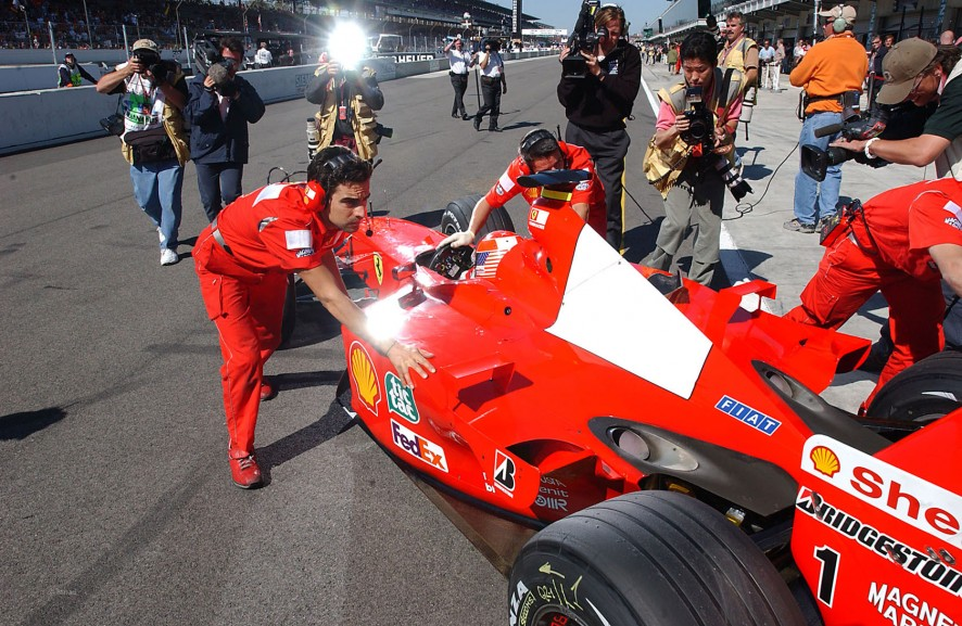 Michael Schumacher, Ferrari F2001, Indianapolis, 2001