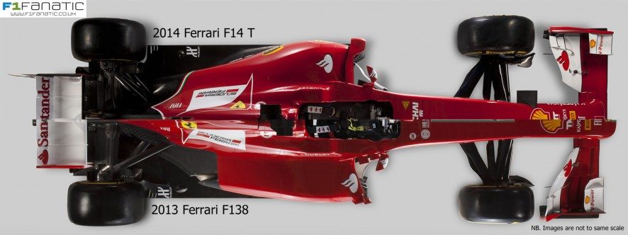 Ferrari F14 T and F138 - top