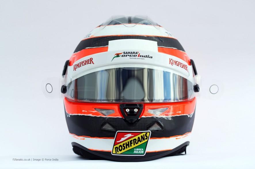 Nico Hulkenberg helmet, Force India, 2014