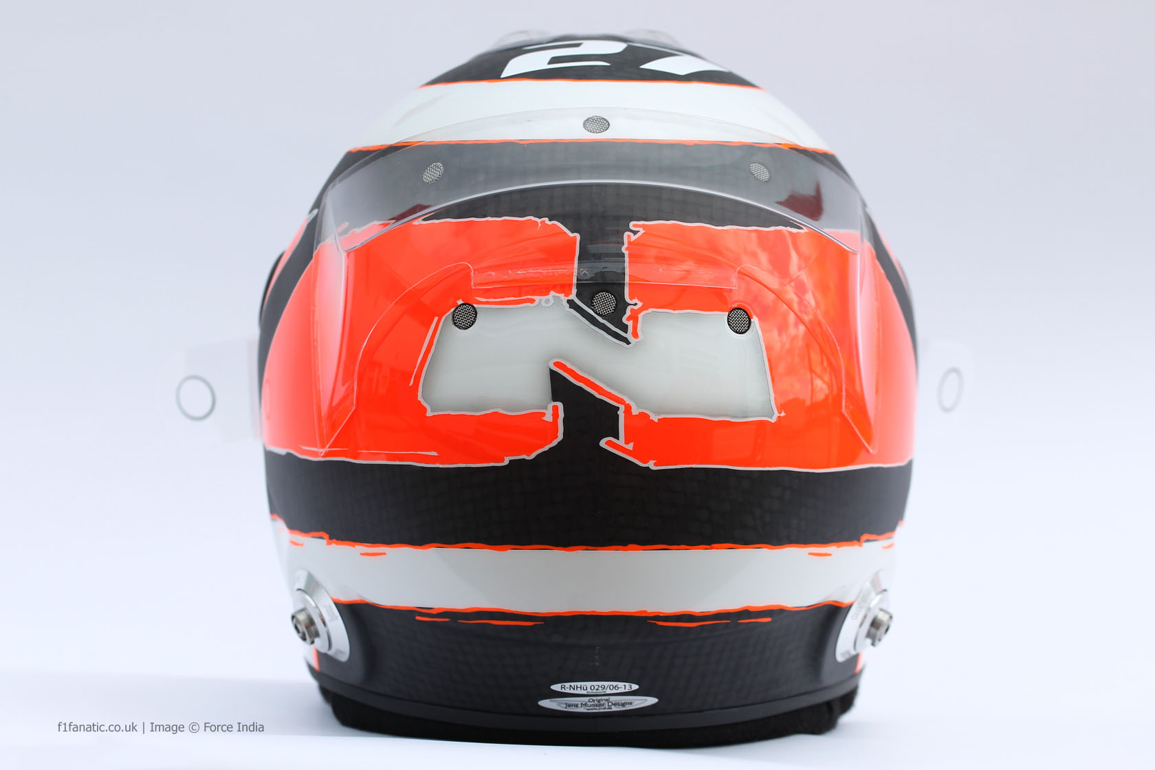 Nico Hulkenberg helmet, Force India, 2014