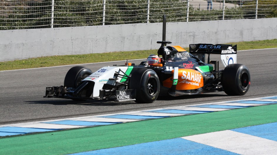 Nico Hulkenberg, Force India, Jerez, 2014