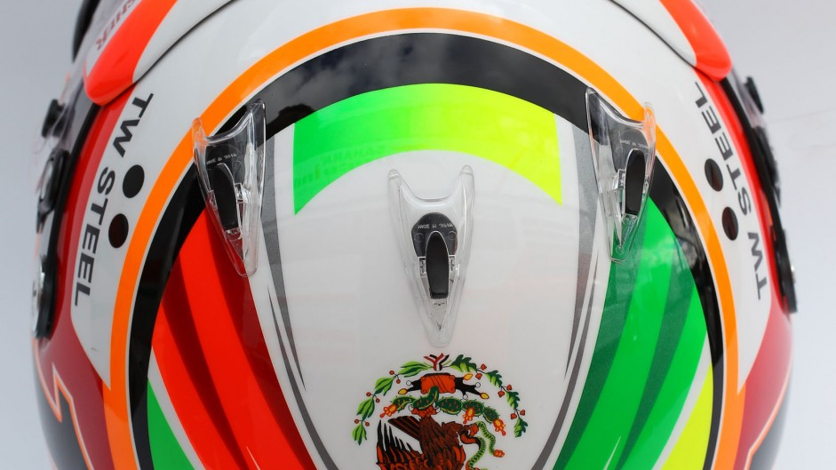 Sergio Perez helmet, Force India, 2014