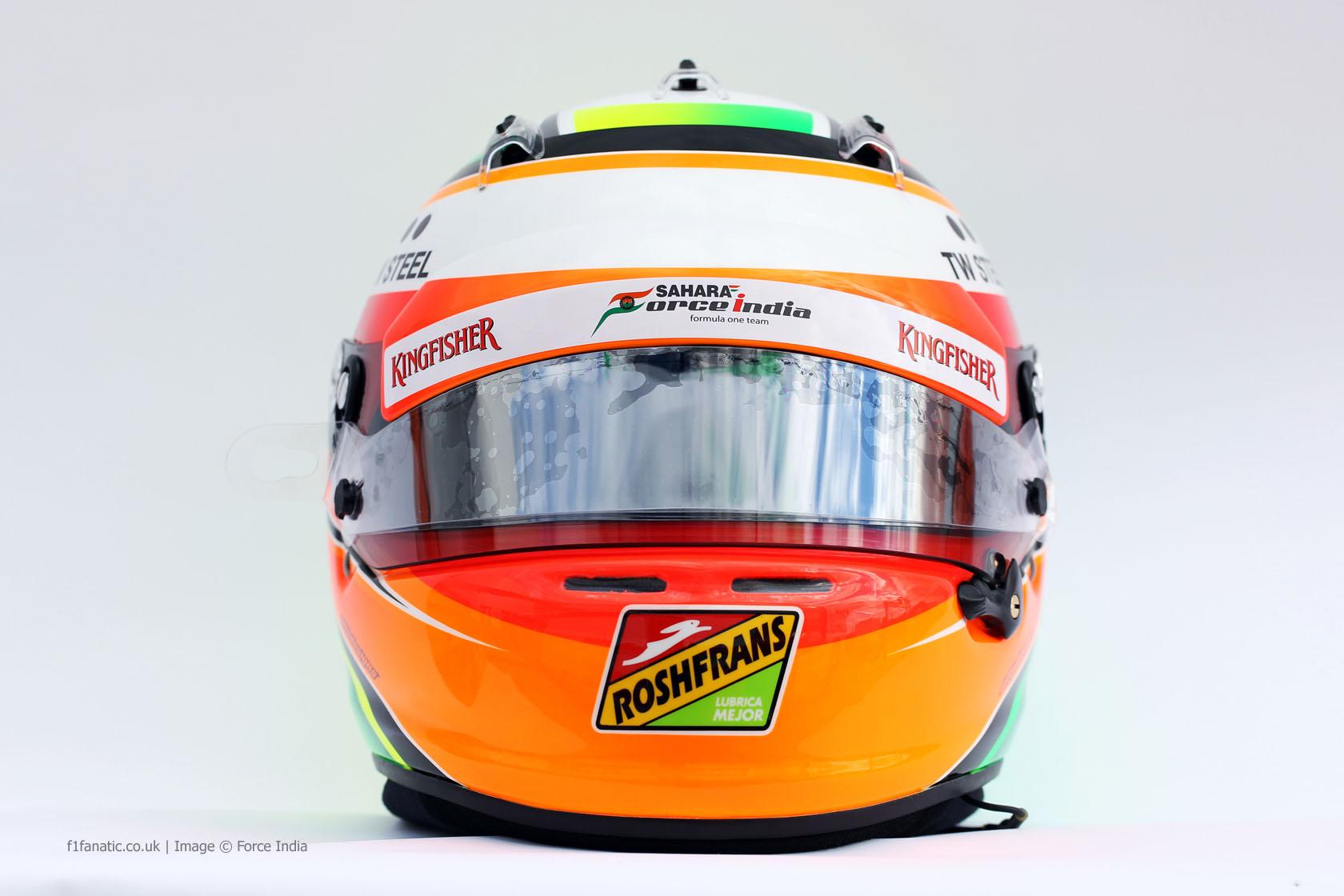 Sergio Perez helmet, Force India, 2014