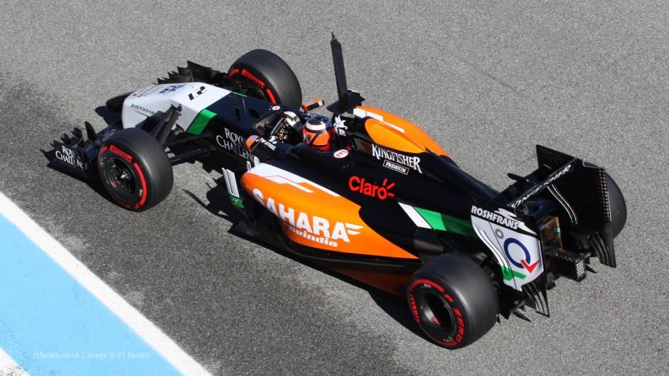 Nico Hulkenberg, Force India, Jerez, 2014