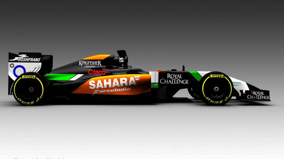 Force India reveal first picture of VJM07