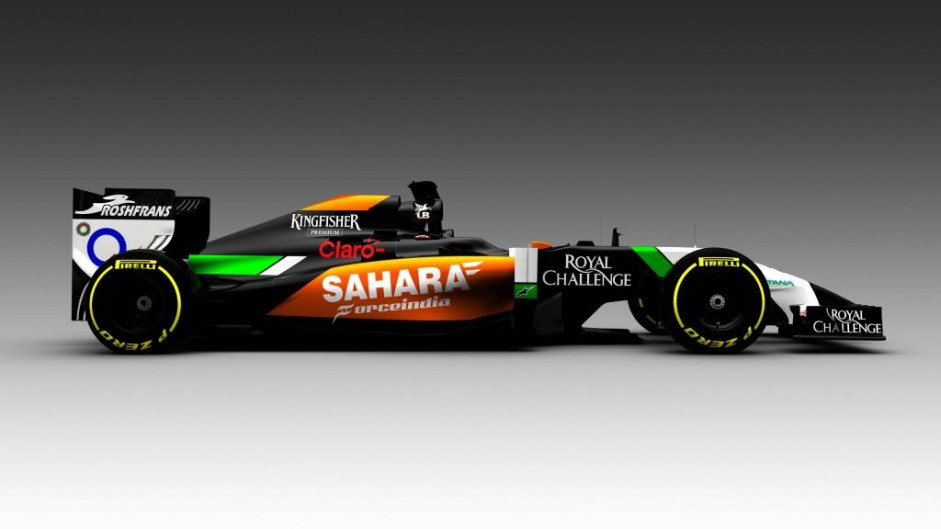 Force India VJM07, 2014 (side)