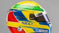 Esteban Gutierrez helmet, right, Sauber, 2014