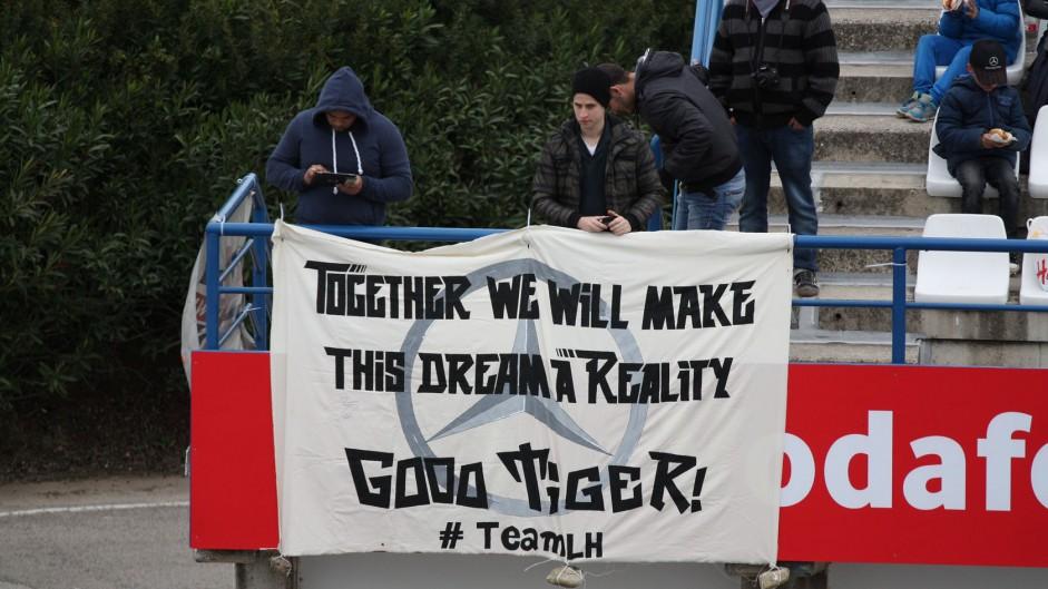 Lewis Hamilton fans, Jerez, 2014