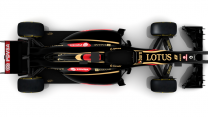 Lotus E22 render, top, 2014
