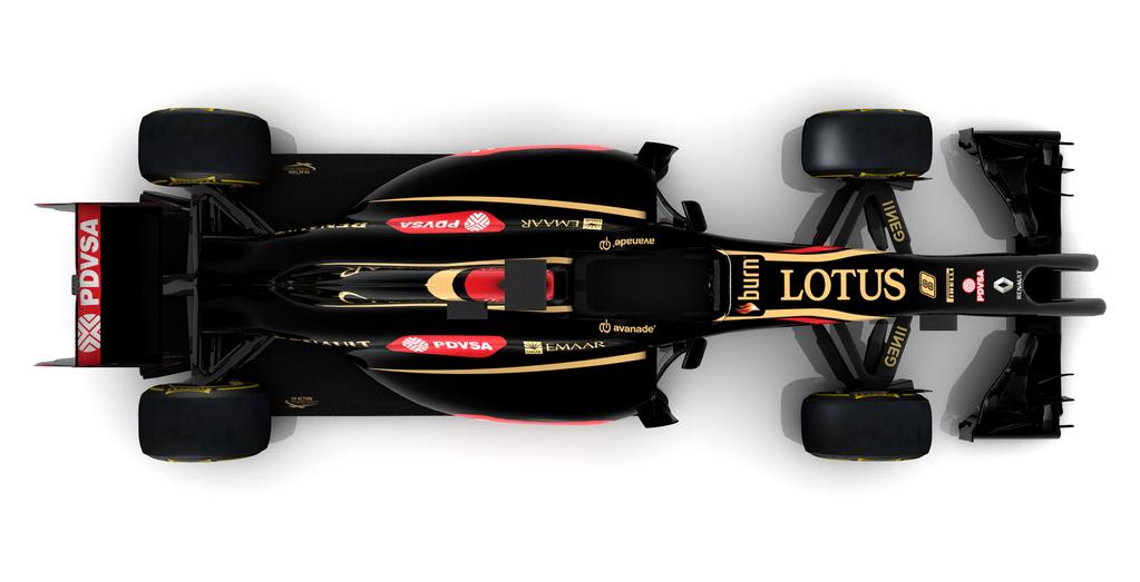 Lotus E22 render, top, 2014