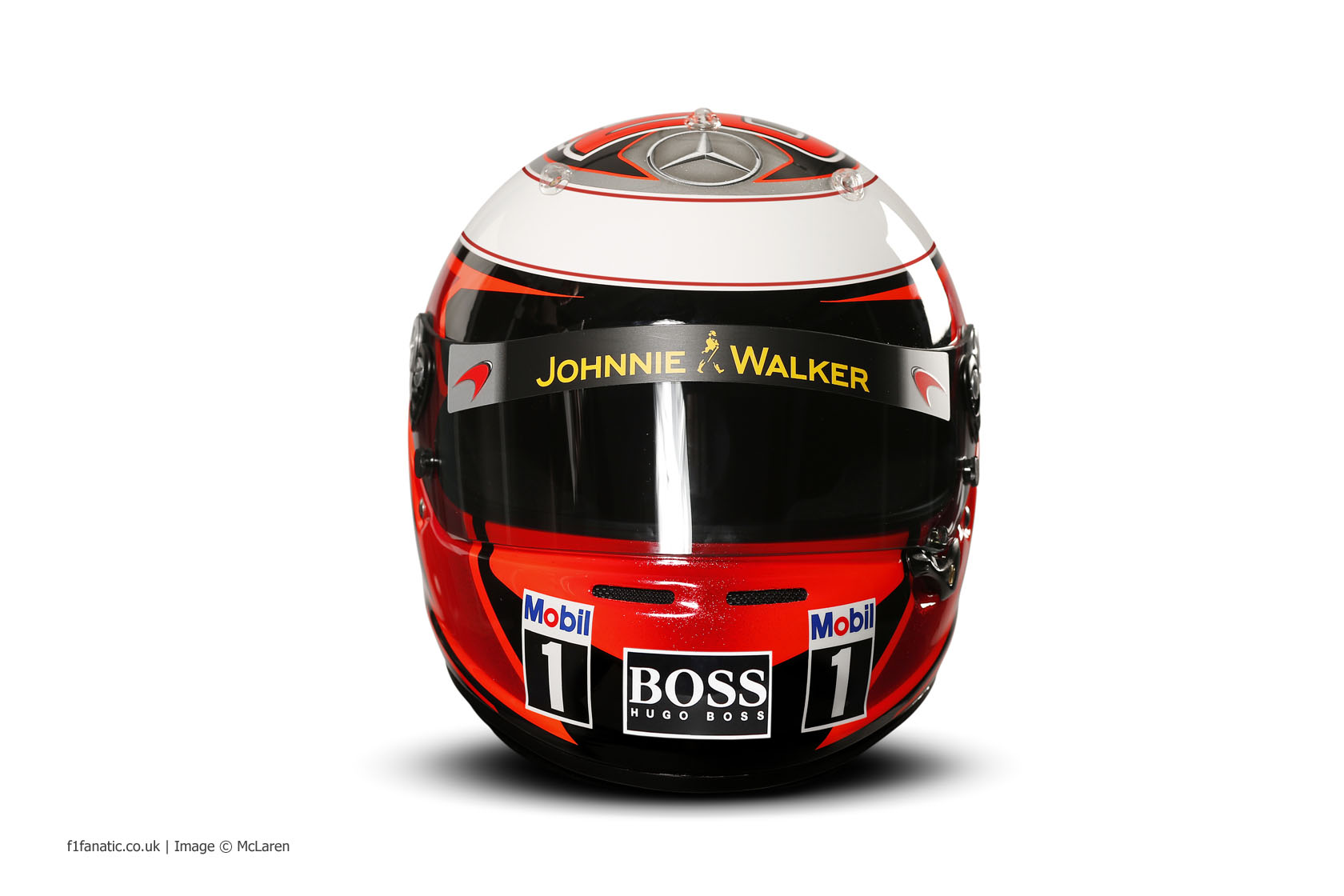 Kevin Magnussen helmet, McLaren, 2014