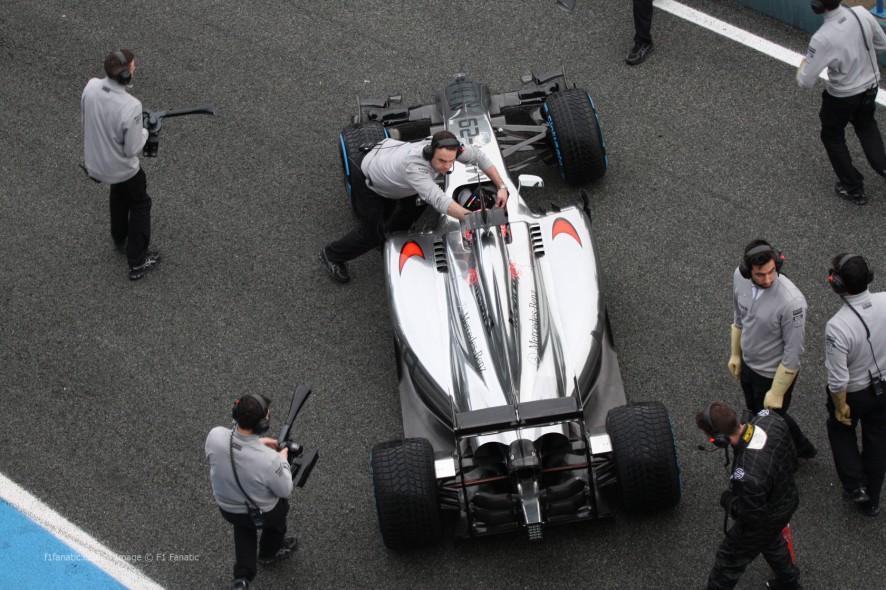 Jenson Button, McLaren MP4-29, Jerez, 2014