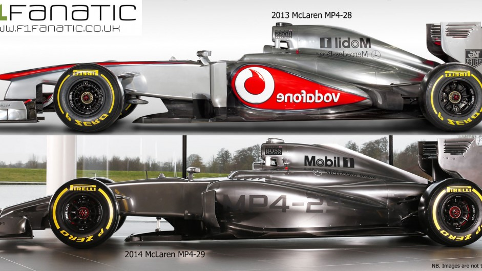 McLaren MP4-28 (2013) and MP4-29 (2014), profile