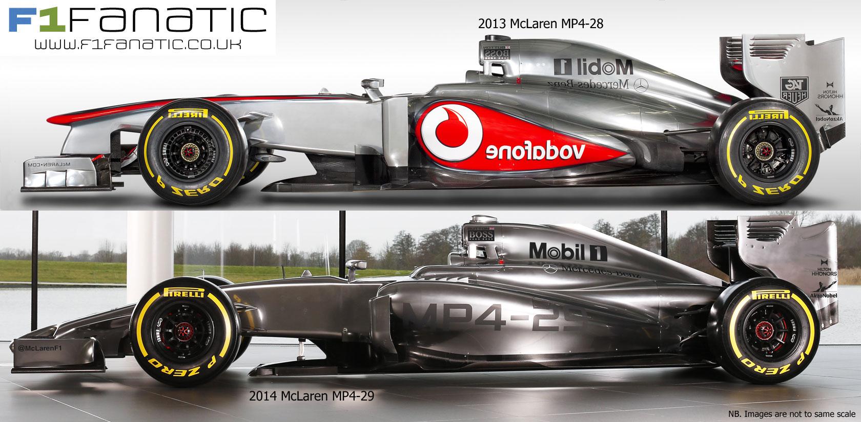 mclaren mp4-28 (2013) and mp4-29 (2014), profile · racefans