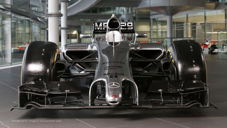 McLaren MP4-29, front, low, 2014