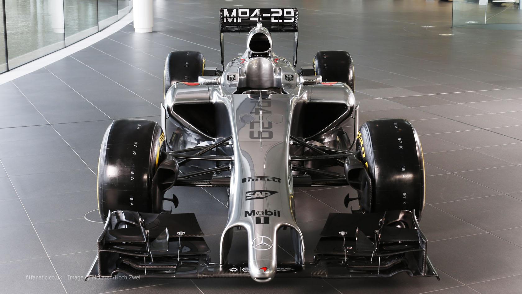 McLaren MP4-29, front, high, 2014
