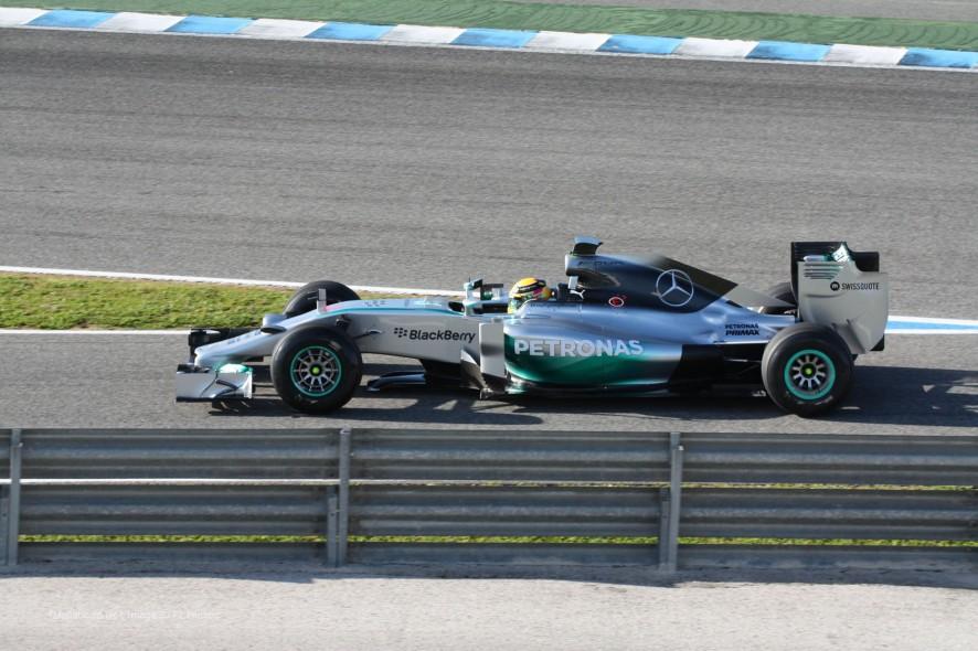 Lewis Hamilton, Mercedes W05, Jerez, 2014