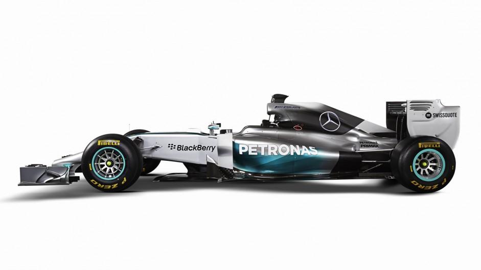 Mercedes W05, left, 2014