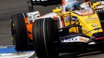 Fernando Alonso, Renault R28, Hockenheimring, 2008