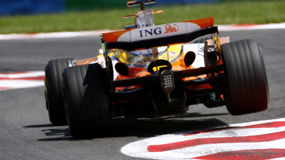 Fernando Alonso, Renault R28, Magny-Cours, 2008