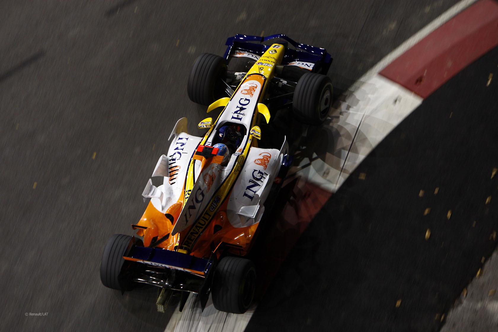 Fernando Alonso, Renault R28, Singapore, 2008