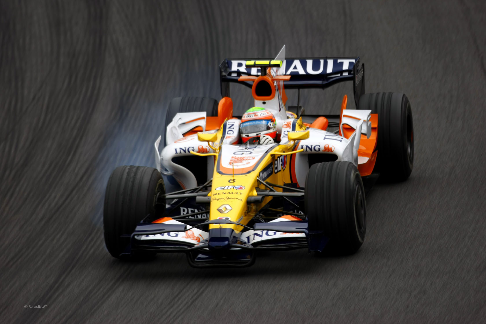 Nelson Piquet Jnr, Renault R28, Interlagos, 2008